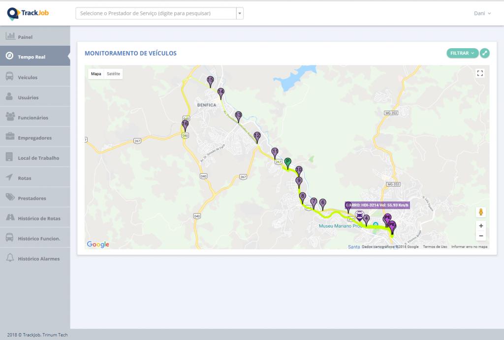 Geolocalização / Trackeamento / Rastreamento / Monitoramento em Tempo Real